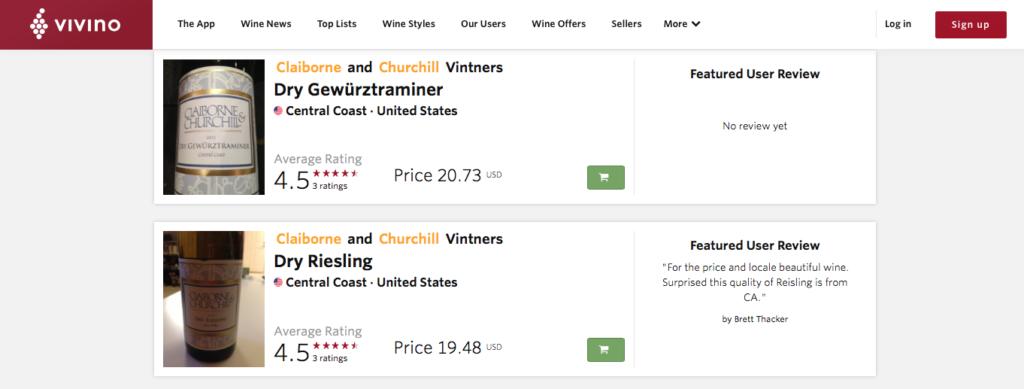 wine, wine app, vivino, claiborne & churchill