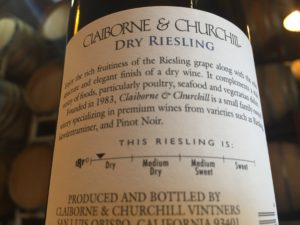 Riseling Scale, Claiborne & Churchill Winery, IRF
