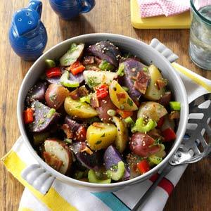 Red, White & Blue Potato Salad via taste of home