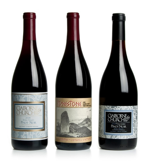 Claiborne & Churchill Pinot Noirs