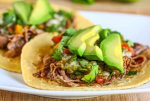 Cinco de Mayo: Carnitas paired with Claiborne & Churchill 2015 Estate Twin Creeks Pinot Noir